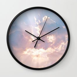 Sun Beams Wall Clock