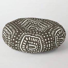 Boho Painted Dark Floor Pillow