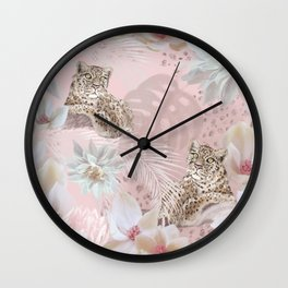 Luxury tropical romance Wall Clock