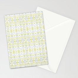 Yellow Batik Stationery Cards