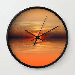 Sunkissed horizon Wall Clock