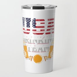 USA Flag Drinking Team Beer Lover America Brewing Gift Travel Mug