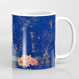 Canary on Branch with Flowers Coffee Mug