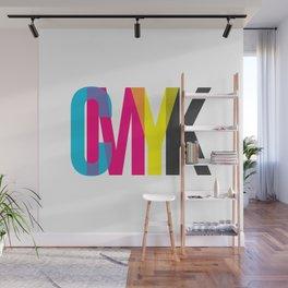CMYK Wall Mural