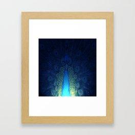 Mystic Peacock Framed Art Print