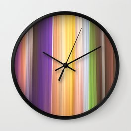 Different soft coloured striped abstract Wall Clock