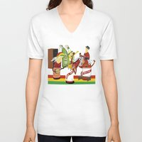 rasta V-neck T-shirts featuring rasta & cheers by gran mike