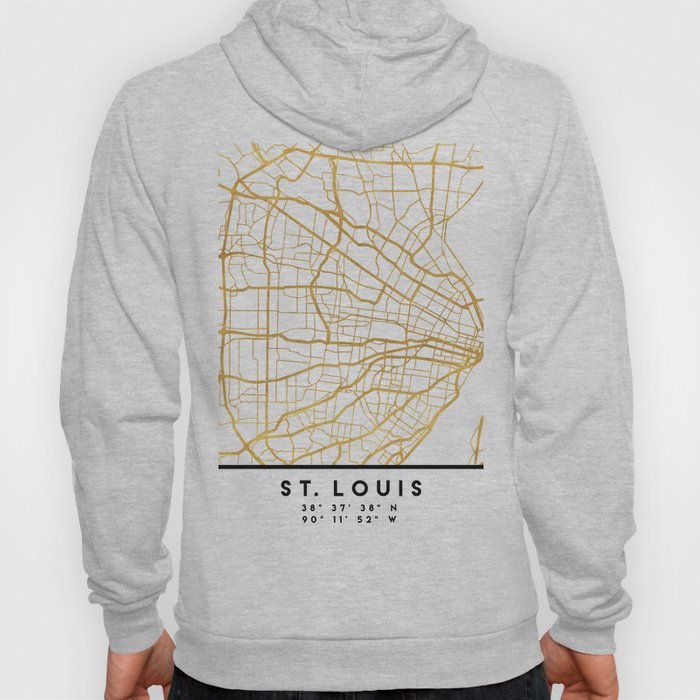 ST. LOUIS MISSOURI CITY STREET MAP ART Hoody