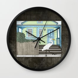 Great Egret and House Wall Clock