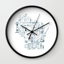 Wisconsin Up North Collage Wall Clock