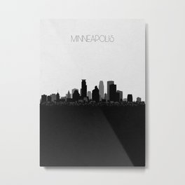 City Skylines: Minneapolis Metal Print
