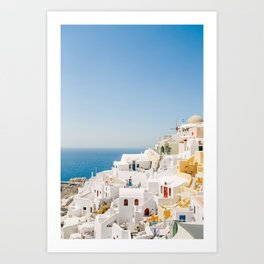 Santorini 0017: White houses in Oia, Santorini, Greece Art Print