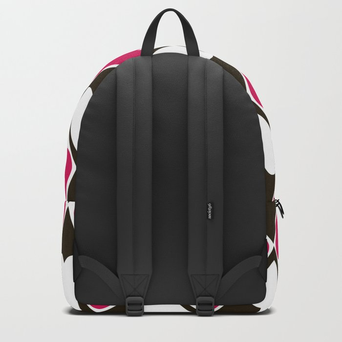 Abstract print with hearts Valentines Day love Backpack