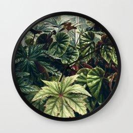 Beautiful Begonias Wall Clock