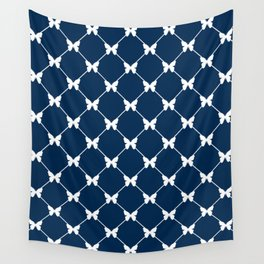 Blue photons with butterflies Wall Tapestry