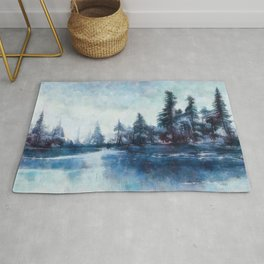 Lassen forest at Echo Lake in California Rug