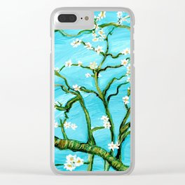 Almond Blossoms - Homage to Van Gogh Clear iPhone Case