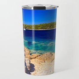 Girl at the sea in Croatia Travel Mug