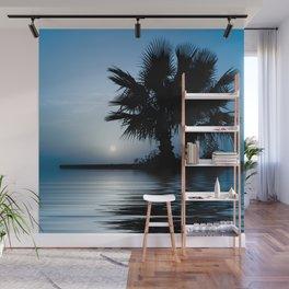Blue Tropical Sunrise Wall Mural