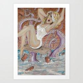 Tearing Down Her Walls Art Print
