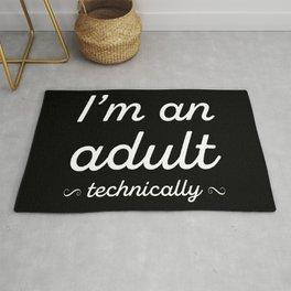 I'm An Adult (Technically) III Rug