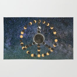 Solar Eclipse – Peace on Earth Rug