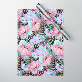 Vintage Pastel Aloha Wrapping Paper