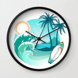 Surfer's Live The Life Motivational Inspirational T-Shirt Wall Clock