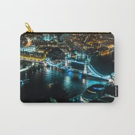 Aerial view of Tower Bridge at Night Carry-All Pouch