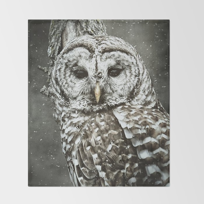 BARRED OWL  Throw Blanket