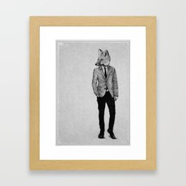 . foxy boy . Framed Art Print