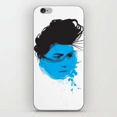 Black, blue & white I iPhone & iPod Skin