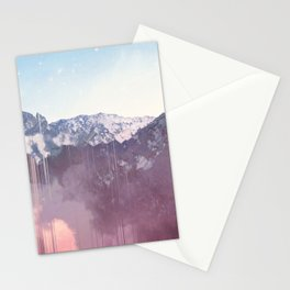 Glitched Mountains Stationery Cards