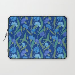 Cornflower field on bright blue Laptop Sleeve