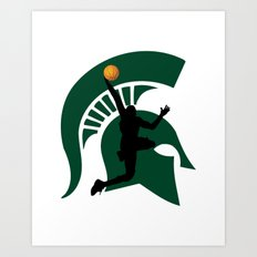 Michigan Basketball Art Print