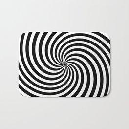 Black And White Op Art Spiral Bath Mat