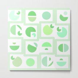 Mid century green Metal Print