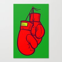 boxing Canvas Prints featuring Boxing Gloves by Artistic Dyslexia