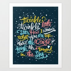twinkle twinkle twinkle twinkle Art Print
