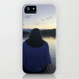 The sun sets on childhood iPhone Case