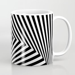 Op art rotating square in black and white Coffee Mug