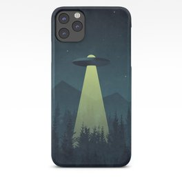 Forest UFO iPhone Case