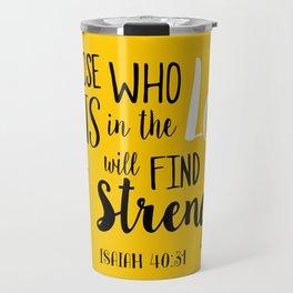 Isaiah 40:30 Travel Mug