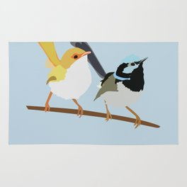 Two Little Wrens Rug