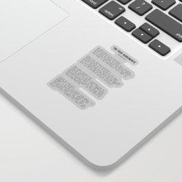 The Four Agreements BW #minimalism Sticker
