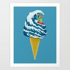Perfect Wave Art Print