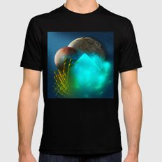 New worlds ripe for exploring MEDIUM Black Mens Fitted Tee