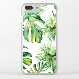 tropical again Clear iPhone Case