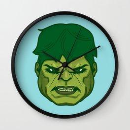 #45 Hulk Wall Clock