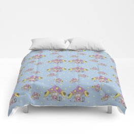 Whimsical Mushroom House Comforters